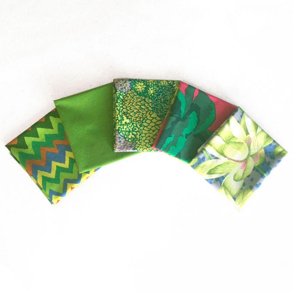 Kaffe Fassett 5 Fat Quarters - Adventurous Greens